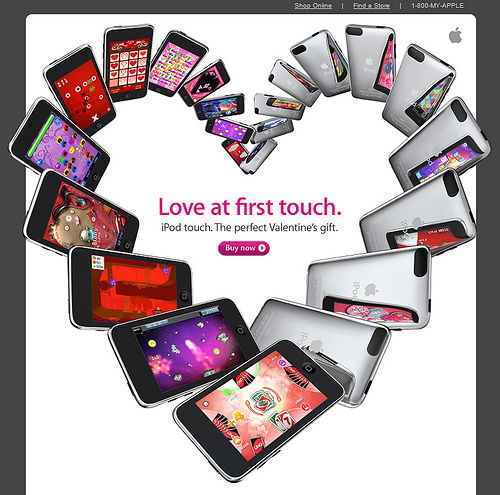 Apple Valentine Ad for iPod Touch