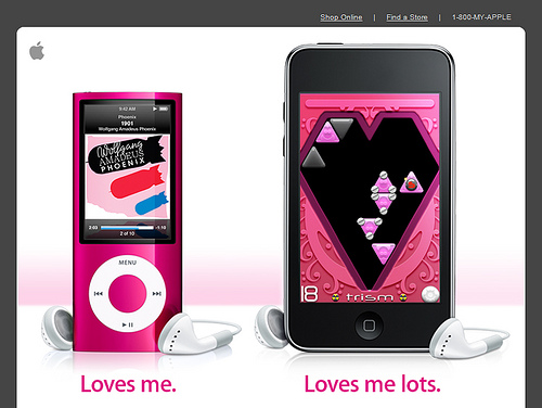 Apple iPod Valentine's Day Mailer